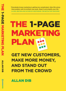 The 1 Page Marketing Plan book cover